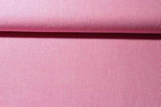 Baumwolle gemustert - Stripe Rot Weiss