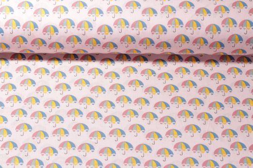 Baumwolle gemustert - Umbrella Sweetheart Rosa Multicolor