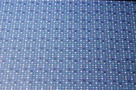 Beschichtete Stoffe - Sterne Blau Multicolor