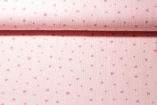 Baumwolle Musselin - Double Gauze Sweethearts Rosa Pink