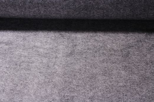 Stickfilz waschbar 3mm - Hellgrau Melange