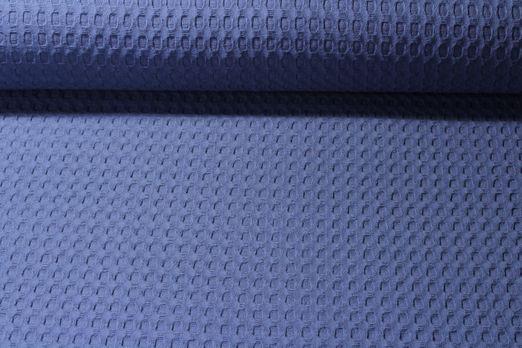 Baumwolle uni - Waffel XL Jeansblau