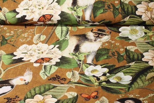 Canvas gemustert - Dschungelwelt Braun Multicolor