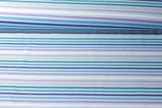 Jersey gemustert - Streifen Blau Multicolor