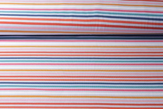 Jersey gemustert - Streifen Rot Multicolor