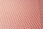 Bedrucktes Kunstleder - Geometrie Orange 001