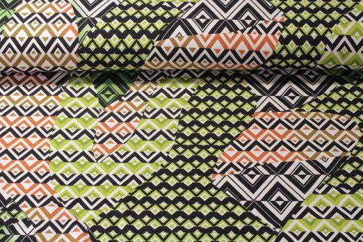 Jersey gemustert - Rautenmix Grün Multicolor