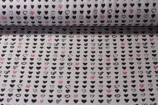 Sweat gemustert - Glitzer Heartbeats Grau Multicolor