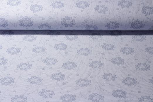 Jersey gemustert - Organic Cotton Große Pusteblume Hellblau Melange