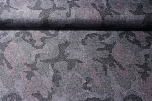 Outdoorstoff - Camouflage Grau