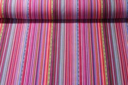 Canvas gemustert - Mexico Fuchsia Multicolor