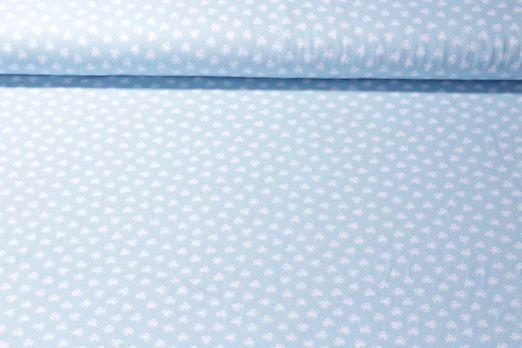 Jersey gemustert - Oktopus Hellblau Weiß