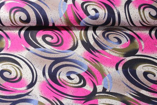 Viskosejersey - Kreise Pink Multicolor