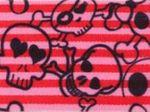 Gummiband rot mit Totenköpfen