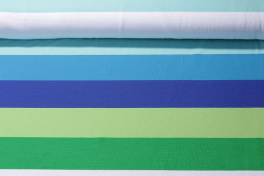 Jersey gestreift - Big Stripe/66mm Lime-Cobalt Multicolor