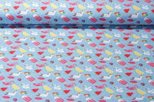 Jersey gemustert - Poolparty Ice Cream Hellblau Multicolor