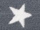 Gummiband 20mm Sterne dunkelgrau
