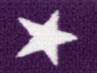 Gummiband 20mm Sterne violett