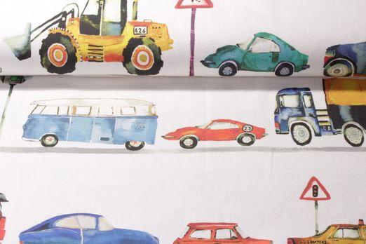 Canvas gemustert - Digital Print On the Road Beige Multicolor