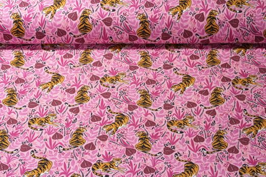 Jersey gemustert - Tiger Lilly Rosa Multicolor