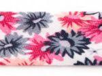Blumen pink/grau