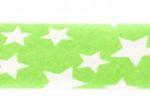 Sterne lime/weiß