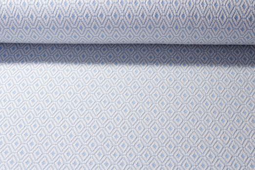Modestoff - Strickstoff Knitted Ornaments Hellblau Weiss