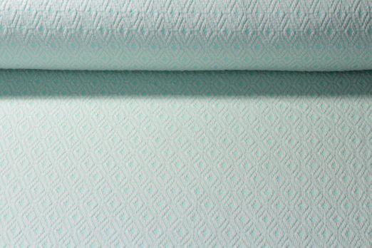 Modestoff - Strickstoff Knitted Ornaments Mint Weiss