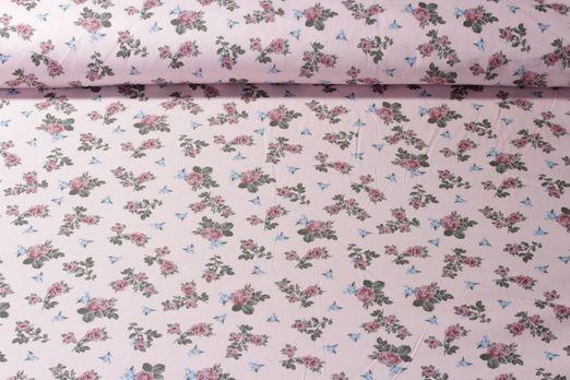 Baumwolle gemustert - Poplin Soft Rosenzauber Rosa Multicolor