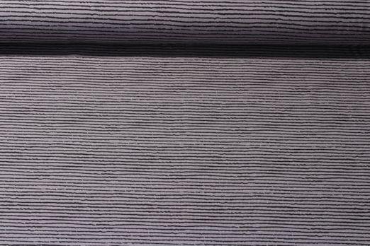 Jersey gestreift - Blurry Stripe Grau Schwarz