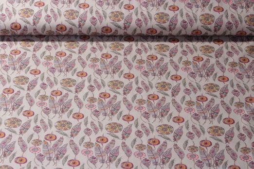 Baumwolle gemustert - Mohican Beige Multicolor