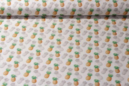Baumwolle gemustert - Ananas Beige Multiclor