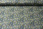 Baumwolle gemustert - Dreiecke Grün Multicolor 001