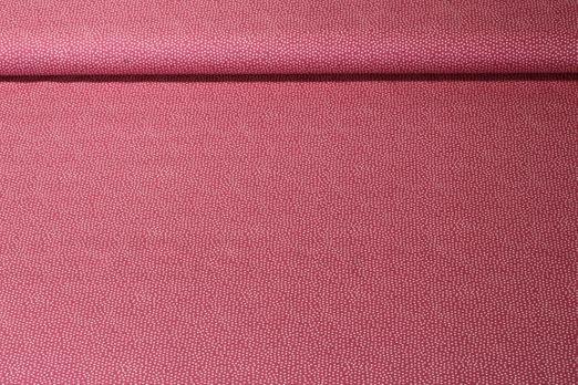 Baumwolle gemustert - Punkte Rosa Weiß