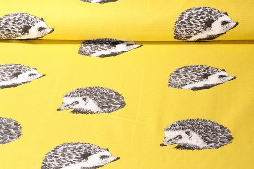 Canvas gemustert - Hedgehog Lime Grau