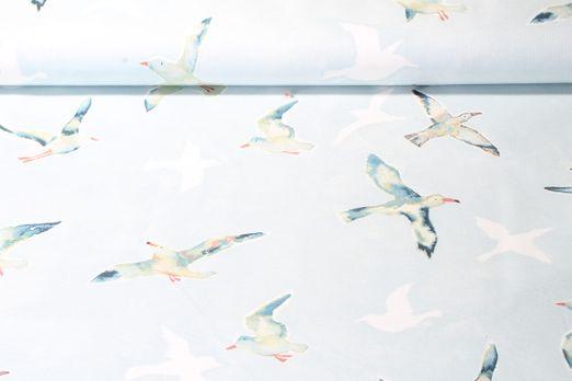 Canvas gemustert - Seagulls Himmelblau Multicolor