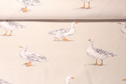 Canvas gemustert - Geese Sage Sand Multicolor