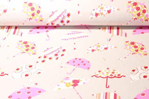 Canvas gemustert - Brollies Taupe Multicolor