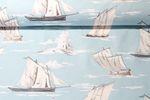 Canvas gemustert - Skipper Hellblau Weiss 001