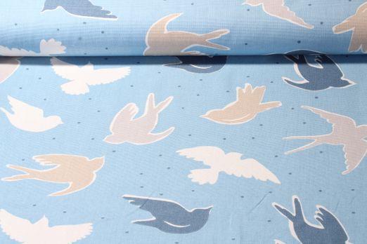 Canvas gemustert - Seabirds Blau Multicolor