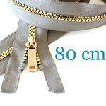 Gold metallisierter Jacken Reißverschluss teilbar 80 cm 001