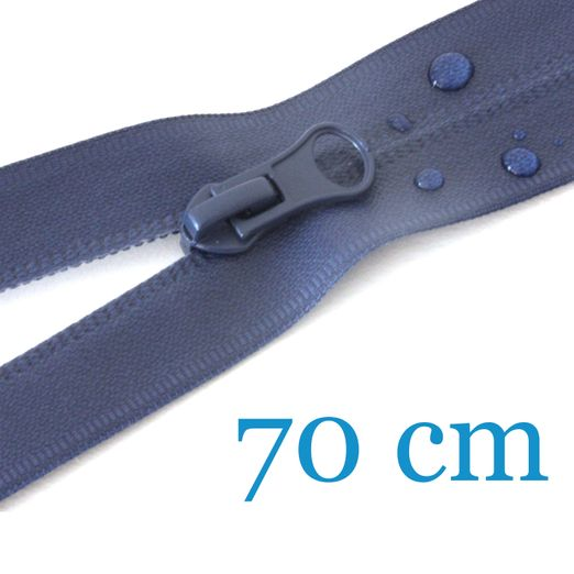 Wasserdichter Outdoor Jacken Reißverschluss teilbar 70 cm