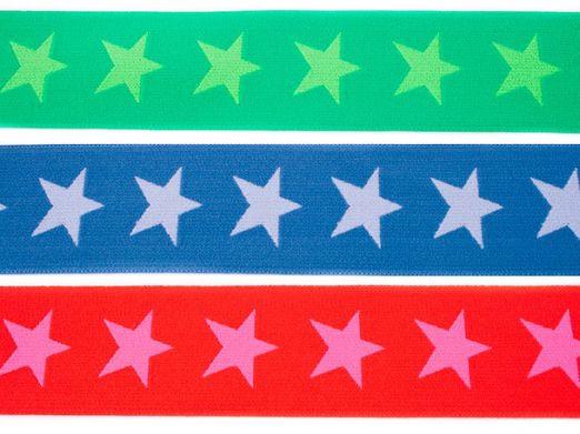 Gummiband 40mm Sterne zweifarbig