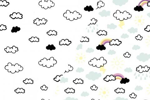 Jersey gemustert - Color Change Regenbogen Multicolor