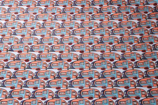 Beschichtete Stoffe - Mobilhome PVC-Beschichtet Glänzend Blau Multicolor