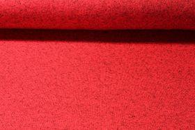 Strickfleece - Rot Melange