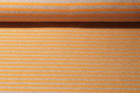 Alpenfleece - Streifen Grau Gelb