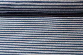 Alpenfleece - Streifen Grau Blau