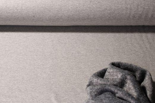 Alpenfleece - Uni Grau Melange