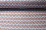 Fleece - Zick Zack Taupe Multicolor 001